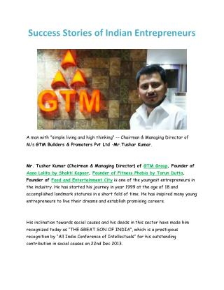 Success Stories of Indian Entrepreneurs