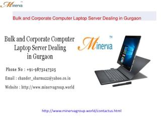 Bulk and Corporate Computer Laptop Server Dealing in Gurgaon