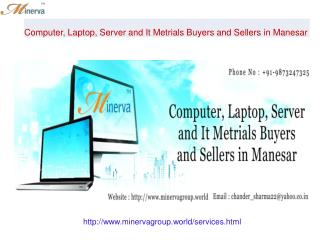 Computer, Laptop, Server and It Metrials Buyers and Sellers in Manesar