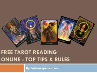 Free Tarot Reading online - Top Tips and Rules