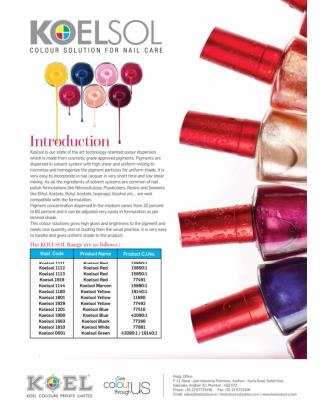 Pigments India - Colour Solution for Nail Care