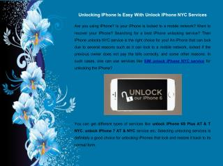 Unlocking IPhone Is Easy With Unlock IPhone NYC Services