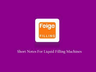 Automatic Liquid Filling Equipments