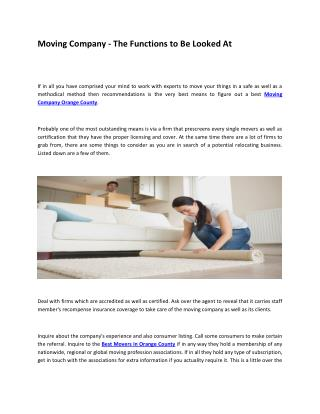 Find Best Moving Company in Orange County | La Habra Relocations