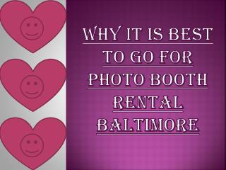 Baltimore Photo Booth Rentals