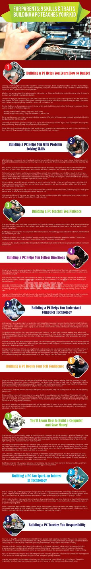 9 Skills & Traits Building a PC Teaches Your Kid