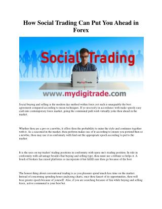 How Social Trading Can Put You Ahead in Forex