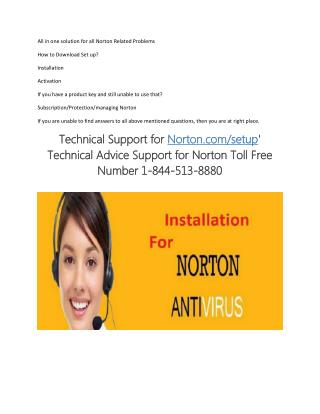Norton.com/setup - Download, Activate, Install - Reinstall Norton Setup