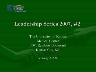 Leadership Series 2007