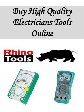 Buy High Quality Electricians Tools Online