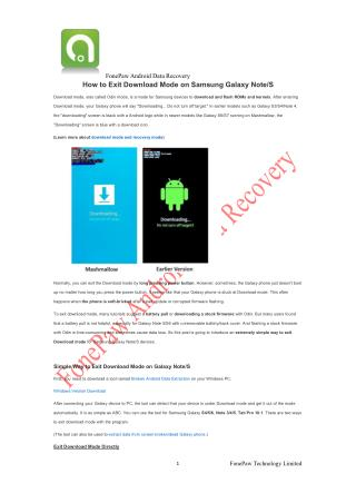 How to Exit Download Mode on Samsung Galaxy Note