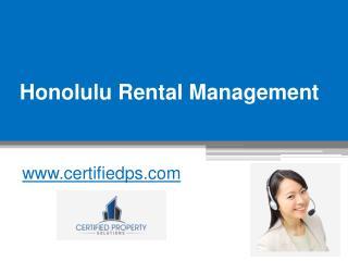 Honolulu Rental Management - www.certifiedps.com