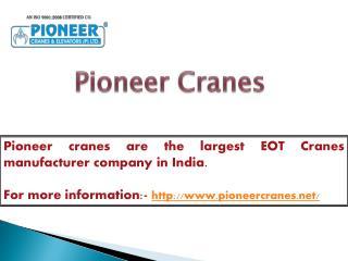 EOT Crane manufacturers in India