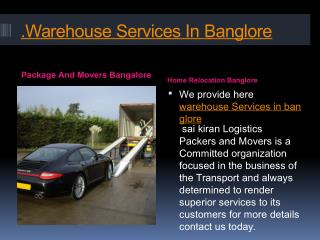Package And Movers Bangalore