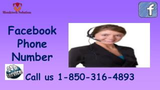 Is Facebook Phone Number truly powerful? call 1-850-316-4893