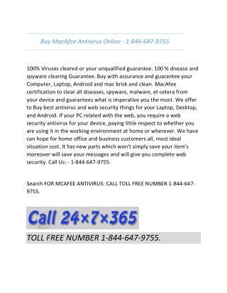 Buy Mcafee Antivirus in USA - 1-844-647-9755