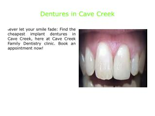 Dentures in Cave Creek