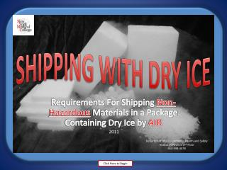 SHIPPING WITH DRY ICE