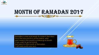 Umrah ramadan 2017 package