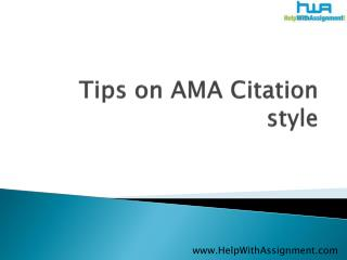 Tips on AMA citation style