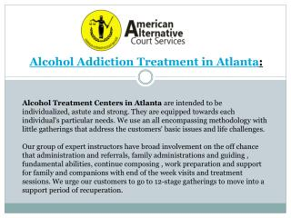 Alcohol Addiction Treatment in Atlanta