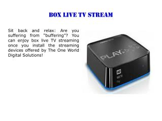 Box live tv stream