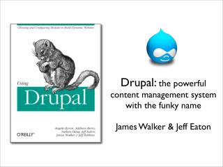 O'Reilly Drupal Webcast