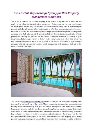 Effective Vacation Rental Management Services in Sydney