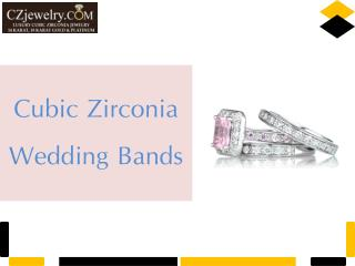 Delightful Cubic Zirconia Wedding Bands Collection - Czjewelry