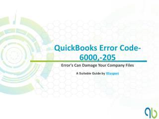 QuickBooks Error Code-6000,-205