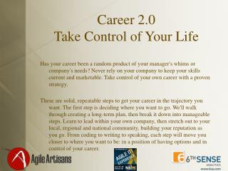 Career 2.0 Take Control of Your Life