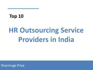 Top 10 HR Outsourcing Service Providers in India