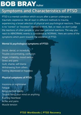 Symptoms and Characteristics of PTSD
