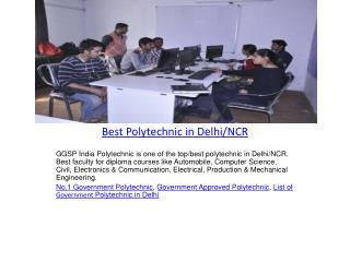 Best Polytechnic in Delhi/NCR