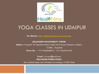Yoga classes in Udaipur