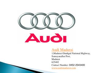Best Audi Car Dealers in Madurai