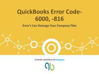 QuickBooks Error Code- 6000, -816