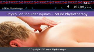 Physio For Shoulder Injuries - IceFire Physiotherapy