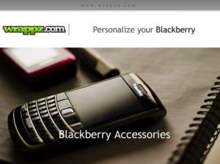 Get Personalized Blackberry Accessories by Wrappz.com