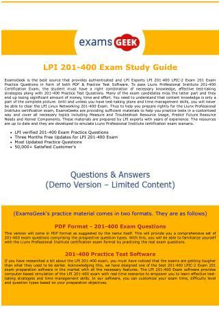 201-400 LPI Linux Networking Exam Dumps