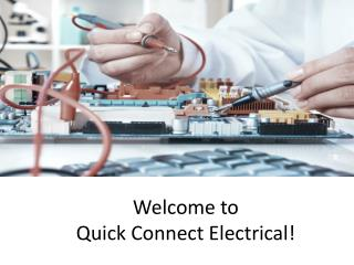 Quick Connect Electrical - Reliable Electrician in Sydney
