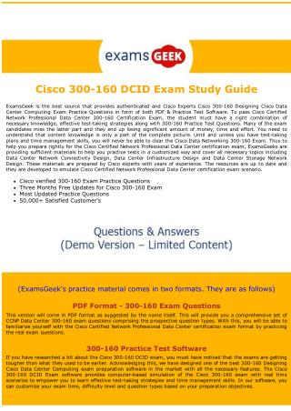 300-160 Cisco Exam Dumps - Designing Cisco Data Center Computing exam