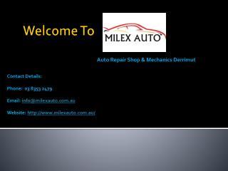 Car Service Derrimut - Milex Auto