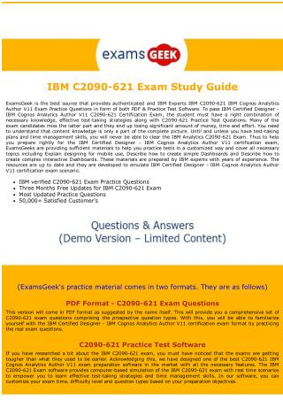 C2090-621 IBM Data Analytics Exam Dumps