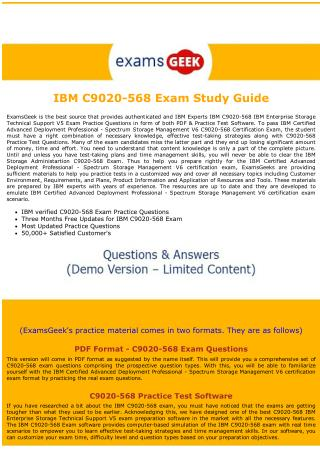 C9020-568 Dumps - IBM Enterprise Storage Technical Support V5 Exam