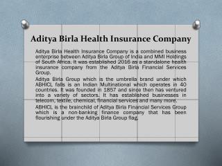Aditya Birla Health Insurance Company