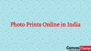 Photo Prints Online in India