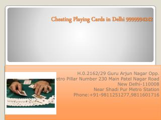 cheating playing cards in Delhi