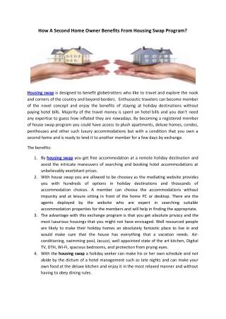 housing swap