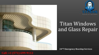Commercial windows & Residential Glass Repair in Alexandria VA
